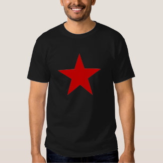 Estrella roja camiseta