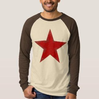Estrella roja camisetas