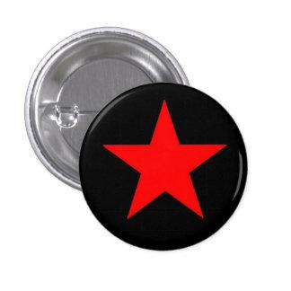 Estrella roja chapa redonda de 2,5 cm