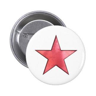 estrella roja chapa redonda de 5 cm