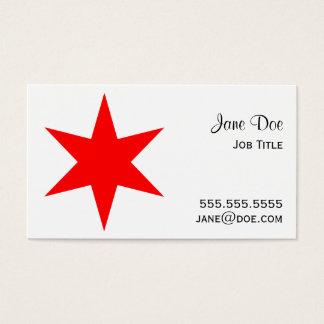 estrella roja de la bandera de 6-Pointed Chicago Tarjeta De Negocios