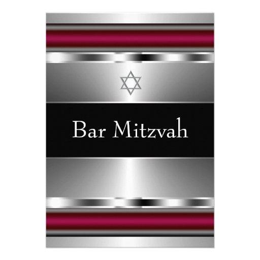 Estrella roja negra de la plantilla de Mitzvah de  Comunicado