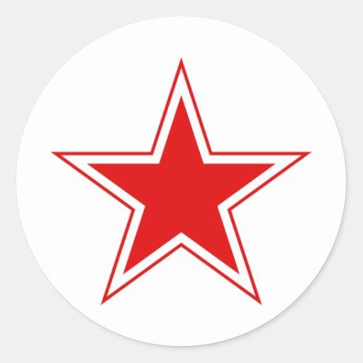 Estrella roja rusa pegatinas