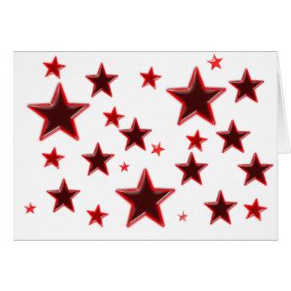 Estrella roja tarjeta de felicitación