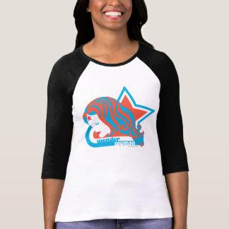 Estrella roja y azul de la Mujer Maravilla Camiseta
