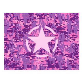 Estrella rosada Deco en el estilo de Digitaces Postal