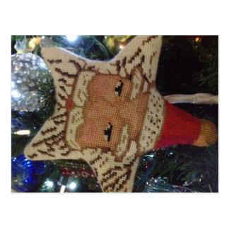 Estrella Santa del encaje de aguja Postal