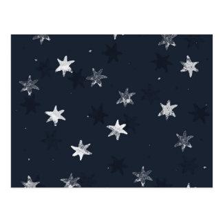 Estrella sellada postal