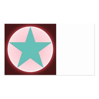 estrella plantillas de tarjetas de visita