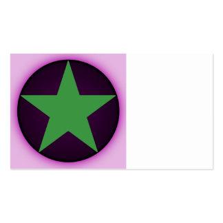 estrella tarjetas de visita