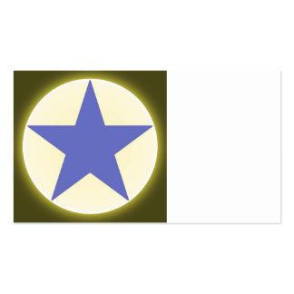 estrella plantilla de tarjeta de visita