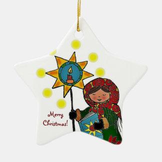 Estrella ucraniana del navidad ornato