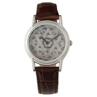Estrella vieja de David que talla, Israel Reloj De Pulsera