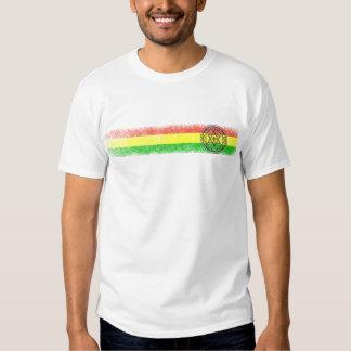 Estrella y cruz del reggae de Rasta Camiseta