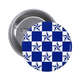 Estrellas azul marino enfermas chapa redonda de 5 cm