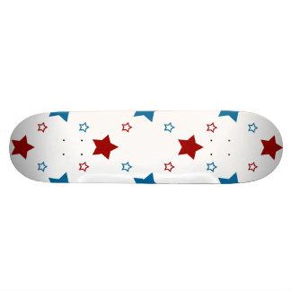 Estrellas azules blancas rojas patrióticas Skatede Tablas De Skate
