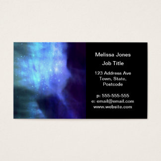Estrellas azules en espacio tarjeta de negocios