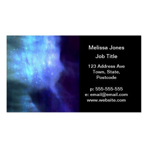 Estrellas azules en espacio tarjeta de visita
