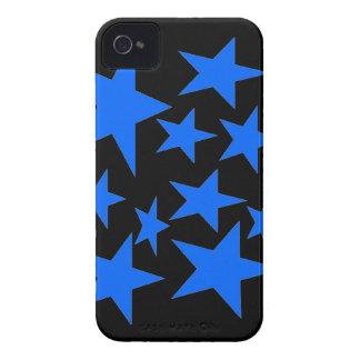 Estrellas azules iPhone 4 Case-Mate cobertura