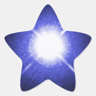 Estrellas brillantes de la noche de Sirius A y de Pegatina En Forma De Estrella