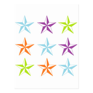 Estrellas brillantes y del blanco postal