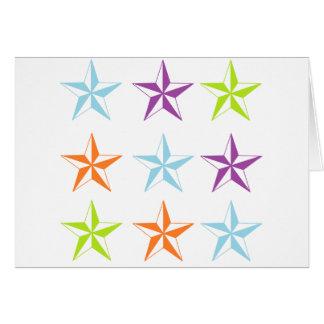 Estrellas brillantes y del blanco felicitacion