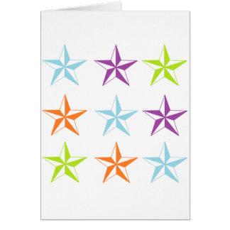Estrellas brillantes y del blanco felicitación