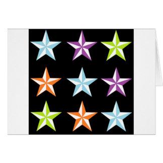 Estrellas brillantes y negras tarjeton