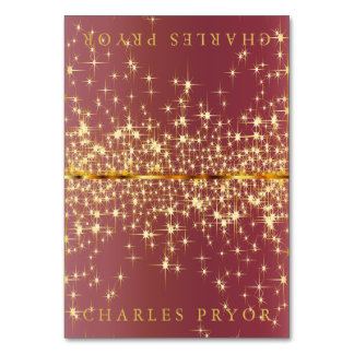 Estrellas chispeantes del oro en tarjetas de