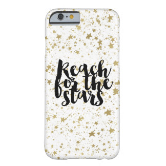 Estrellas chispeantes del oro funda barely there iPhone 6
