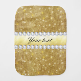 Estrellas chispeantes y diamantes del oro elegante paños para bebé
