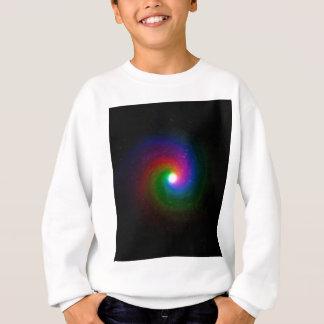 Estrellas coloridas que remolinan hacia un centro sudadera