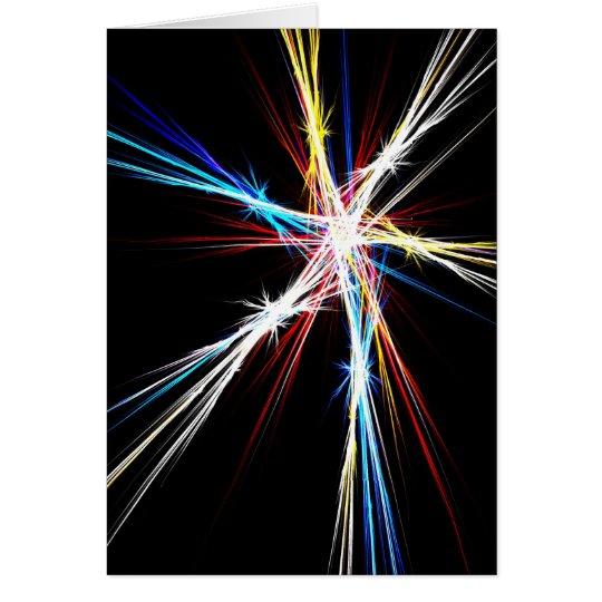 Estrellas coloridas - tarjeta