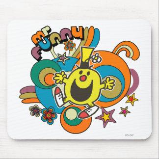 Estrellas coloridas y remolinos de Sr. Funny el | Alfombrilla De Ratón