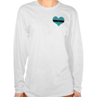 Estrellas conocidas personalizadas de la turquesa camiseta