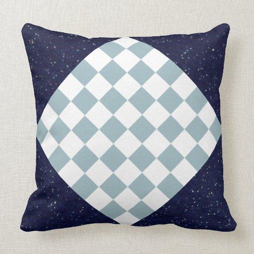 Estrellas de la almohada de la decoración y azul d