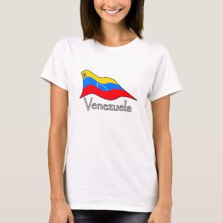 Estrellas de la bandera 7 de Venezuela y escudo de Camiseta