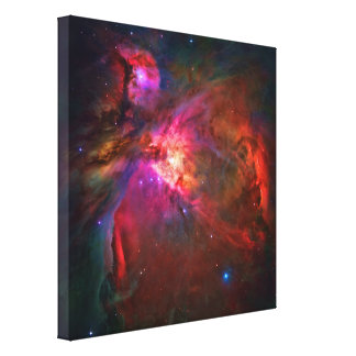 Estrellas de la nebulosa y del trapecio de Orión Lona Envuelta Para Galerias
