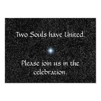 Estrellas de la plata en invitaciones negras del invitación 12,7 x 17,8 cm
