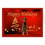 Estrellas de la tarjeta de Navidad del Pinscher de