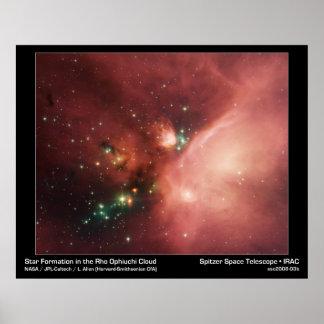 Estrellas de los jóvenes de NASAs Póster