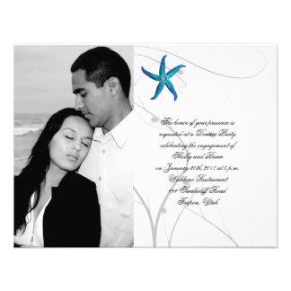 Estrellas de mar azules con el compromiso coralino anuncio