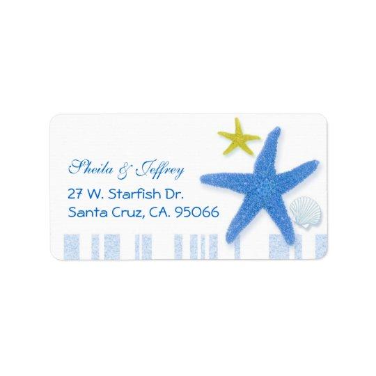 Estrellas de mar azules grandes + El casarse de Etiqueta De Dirección