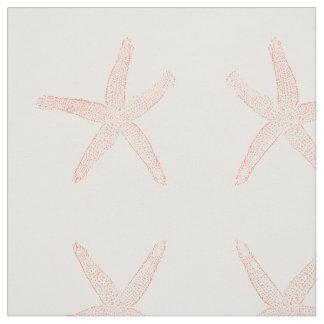 Estrellas de mar coralinas simples tela