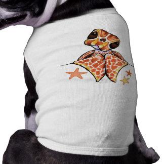 Estrellas de mar de Brown del bebé de la tortuga Camiseta Sin Mangas Para Perro
