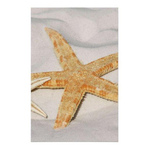 Estrellas de mar flyer personalizado