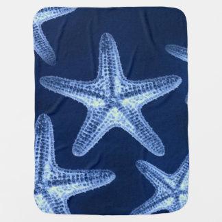 estrellas de mar náuticas elegantes lamentables mantitas para bebé