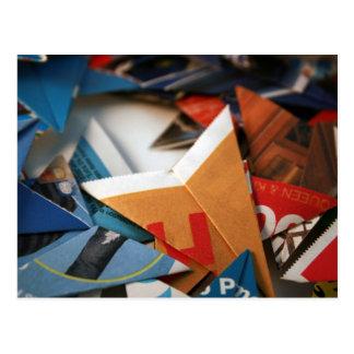 Estrellas de Upcycled Origami Postales