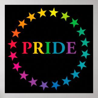 Estrellas del arco iris del orgullo gay posters