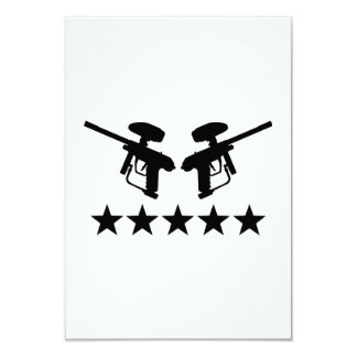 Estrellas del arma de Paintball Invitación 8,9 X 12,7 Cm